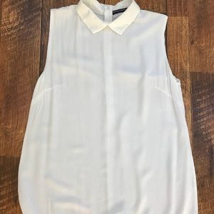 Brandy Melville white silky top OS fits S